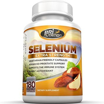 BRI Nutrition Selenium - Natural Antioxidant Supplements Helps to Fortify Immune System, Maintain Heart Health & Combat Free Radical Damage -...