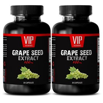 Immune system booster - GRAPE SEED EXTRACT 100 - Grapeseed vitamins - 2 Bottles - 60 Capsules