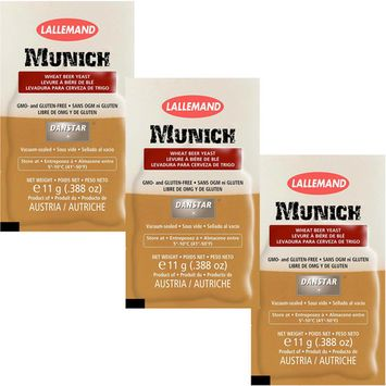 3 Pack LALLEMAND Danstar MUNICH German-style Home Brewing Beer Yeast Homebrew