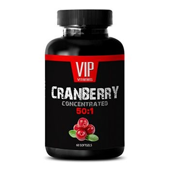 Longevity herbs and superfoods - CRANBERRY CONCENTRATED EXTRACT 252Mg 50: 1 - Cranberry easter - 1 Bottle 60 softgels