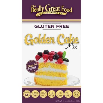Really Great Food Company – Gluten Free Golden Cake Mix – 23 ounce box - No Nuts, Soy, Dairy, Eggs - Vegan, Non-GMO, Kosher and Plant Based [Golden]