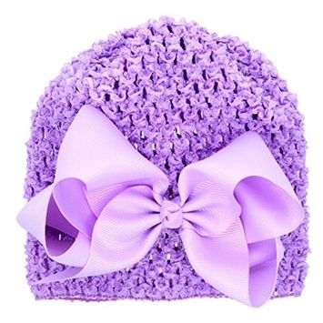 Fullkang Toddlers Infant Baby Girl Bowknot Hollow Out Hat Headwear Hat