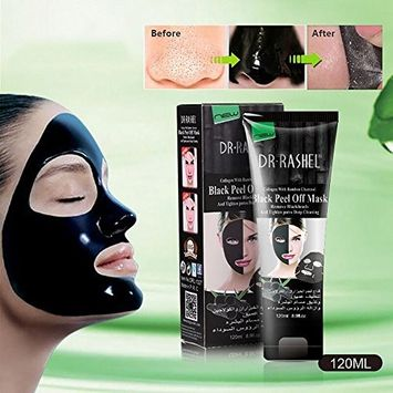 Blackhead Remover Mask, Boolavard Bamboo Charcoal Deep Cleansing Acne Black Mud Face Mask, Blackhead Peel-off Mask