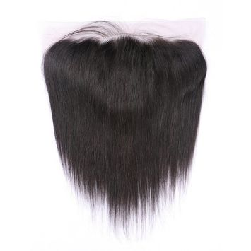 Beata Hair 13x6 Lace Frontal Closure Straight 100% Human Hair Frontal with Baby Hair 12inch []
