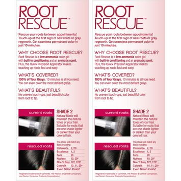 L'Oreal® Paris Root Rescue™ 10 Minute Root Coloring Kit Matches Any 2 Natural Black 2-1 Kit Boxes