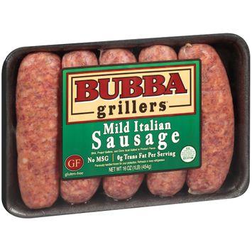 Bubba Grillers® Mild Italian Sausage