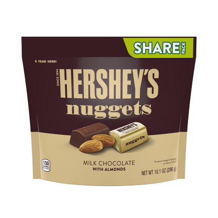 Hershey's Nuggets, Almond and Milk Chocolate Candy, 10.1 Oz