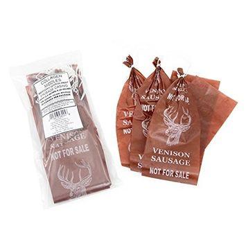 TSM Mahogany Deer Print Collagen Sausage Casings, 65mm, Pre-Tied (20pcs)