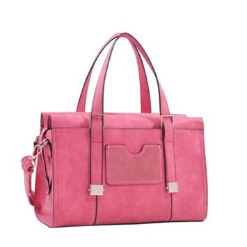 MKF Collection Coral Kiki Satchel With Cosmetic Pouch by Mia K. Farrow