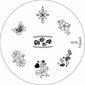 Konad Stamping Nail Art Image Plate - M76