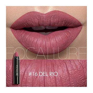 Hot Sales! DEESEE(TM) FOCALLURE Matte Lipstick Pen Waterproof Lasting 12-color Optional Lip Makeup