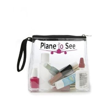 Miamica Clear TSA Compliant Security Case Plane To See, Fuchsia/Black, One Size