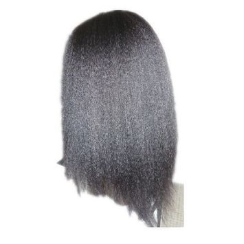 Tanya Variety of Kinky Straight Indian Remy Human Hair Lace Front Wigs (8