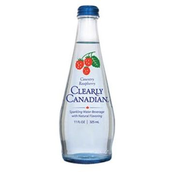 Clearly Canadian Sparkling Flavored Water (Country Raspberry, Single Bottle)