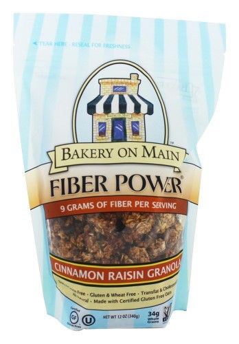 Bakery On Main - Fiber Power Granola Gluten Free Cinnamon Raisin - 12 oz(pack of 4)