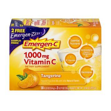 Pfizer Emergen-C Tangerine flavored Vitamin C drink mix - 30 Count, EC148