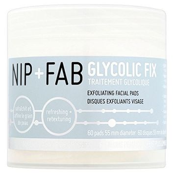 Nip + Fab Glycolic Fix Exfoliating Facial Pads (60) - Pack of 6