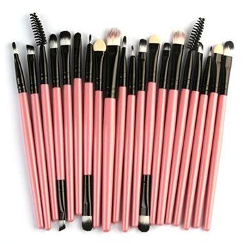 Powder Make up Brushes, CYCTECH Professional Eyeshadow Foundation Blush Brush Sets Blending Essential 20 Pieces Travel Kit Beauty Blender Tools
