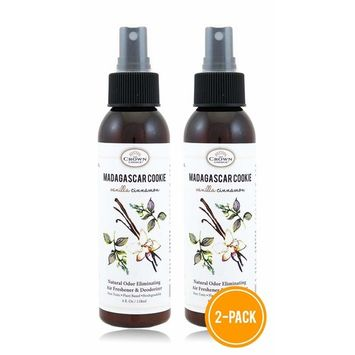 Best Natural Essential Oil Air Freshener Home Spray (2PK Vanilla Cinnamon) | Room Odor Eliminator Spray | Neutralize Bathroom Toilet Odors