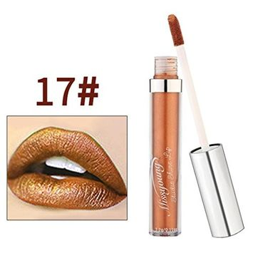 DEESEE(TM)MISS YOUNG 18 Color New Waterproof Matte Lasting The Silver Tube Liquid Sexy Lip Makeup Gloss Kit