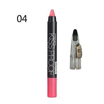 Hot Sales! DEESEE(TM)MENOW Lipliner Pen Pencil + Pencil Sharpen Makeup Waterproof Hot Cosmetic Lip Gloss