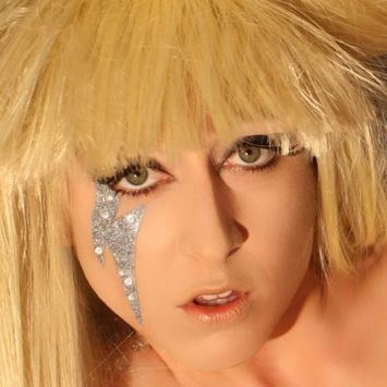 Gaga Glitter Eyes Professional Rhinestone Applique Lightening Bolt Xotic Eyes