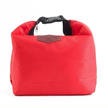 Heat Insulated Waterproof Heavy Duty Lightweight Lunch Storage Bag - Red