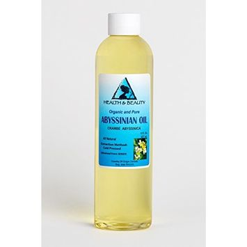 Abyssinian/Crambe Seed Oil Organic Cold Pressed Natural 100% Pure 8 oz