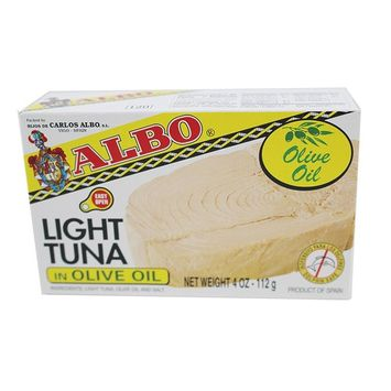 Albo Light Tuna in Olive Oil, 4 oz Can (Pack of 2)