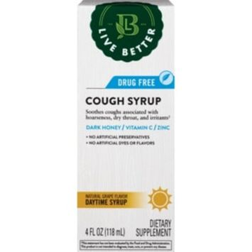 Live Better Adult Cough & Throat Relief Daytime, 4 OZ