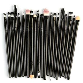 Powder Make up Brushes,CYCTECHProfessional Eyeshadow Foundation Blush Brush Sets Blending Essential 20 Pieces Travel Kit Beauty Blender Tools