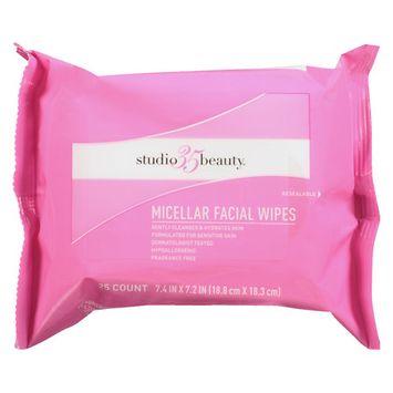 Studio 35 Micellar Water Facial Wipes - 25 ea