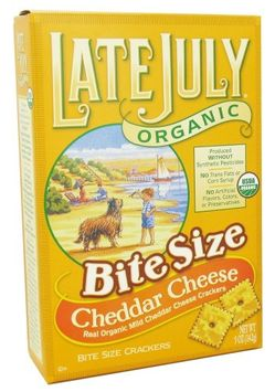 Late July Organic - Organic Bite Size Crackers Cheddar Cheese - 5 oz (pack of 6)