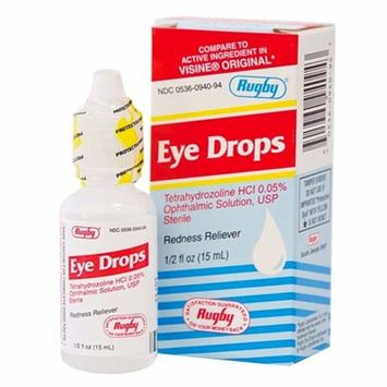 Rugby Eye Drops, Redness Reliever, 0.5 oz