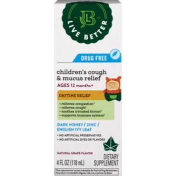 Live Better Children's Cough & Mucus Relief Daytime, 4 OZ