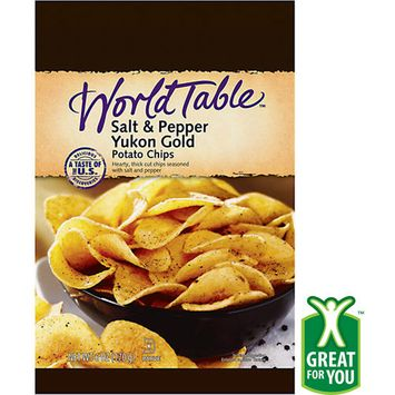 World Table Salt & Pepper Yukon Gold Potato Chips, 8 Oz.