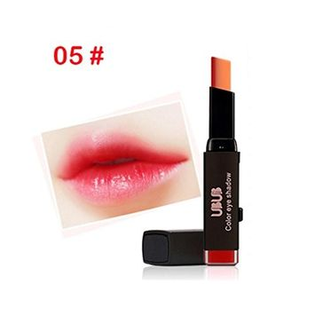 Women Two-Tone Tint Lip Bar, Lotus.flower Waterproof Long Lasting Lipstick High Colority Lip Gloss Sexy Gradient Lip Makeup - Special Gift for Valentine