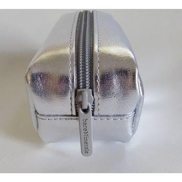 bareMinerals Escentuals Small Silver Make Up Case Travel Pouch