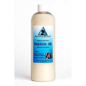 Babassu Oil Organic Carrier Cold Pressed Natural Fresh 100% Pure 16 oz
