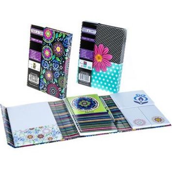 Creative Colors Floral Magnetic Notes Journal (Pack of 24)
