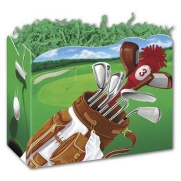 4717GOLF Golf Scene Gift Basket Boxes, 10 1/4 x 6 x 7 1/2