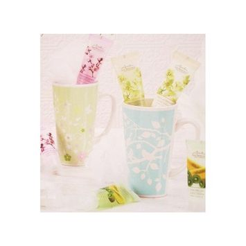 Cherry Blossom Bath Mug Gift Set, Sky Blue Mug