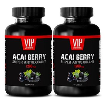 Acai berry pills - ACAI BERRY SUPER ANTIOXIDANT EXTRACT 1200 MG - Antifungal- 2 Bottles 120 Capsules