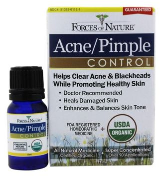 Forces of Nature - Acne/Pimple Control - 11 ml.(pack of 3)