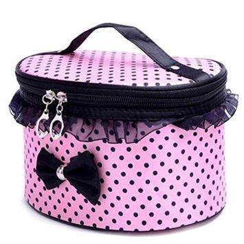 Hatop Portable Travel Toiletry Makeup Cosmetic Bag Organizer Holder Handbag