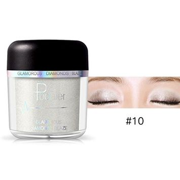 Hunputa Amazing Gift! Cold Smoked Metals Color Glitter Shimmer Pearl Loose Eyeshadow Pigments Mineral Eye Shadow Dust Powder Makeup Party Cosmetic