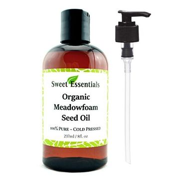 100% Pure Organic Meadowfoam Seed Oil | 8oz | Cold Pressed | For Hair, Skin & Nails | Eyelash Growth | For All Skin & Hair Types | Also Excellent For Mature Skin