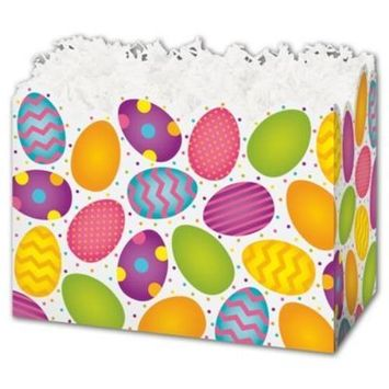 4717EGGS Easter Eggs Gift Basket Boxes, 10 1/4 x 6 x 7 1/2