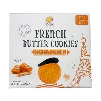 Pierre Biscuiterie French Butter Cookies Sea Salt Caramel 1 lb 5.1 oz. (600 g)