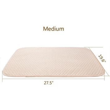 Baby Waterproof Urine Mat Natural Organic Cotton Crib Mattress,Diaper Changing Pad Washable Incontinence Sheet Cover Protector for Toddler Adults (M, 2PCS)